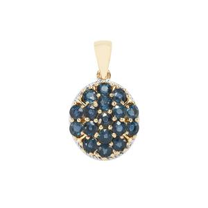 Nigerian Blue Sapphire Pendant in 9K Gold 2.71cts