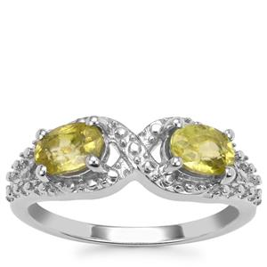 Ambilobe Sphene Ring in Sterling Silver 1.14cts