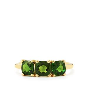 Chrome Diopside Ring  in 10k Gold 1.70cts