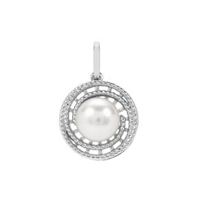 South Sea Cultured Pearl Sterling Silver Pendant (8.50mm)
