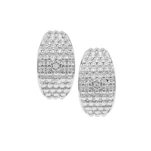Diamond Sterling Silver Earrings