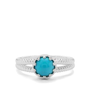 Sleeping Beauty Turquoise Ring in Sterling Silver 1.27cts