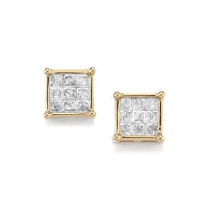 Diamond Earrings in 10K Gold 0.75ct
