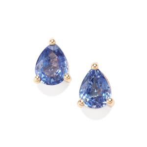 Ceylon Sapphire Earrings in 10K Gold 0.72ct