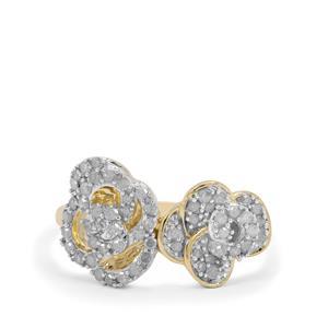 1/2ct Diamond 9K Gold Tomas Rae Ring