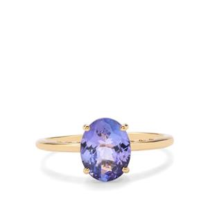 AA Tanzanite Ring in 18K Gold 1.40cts