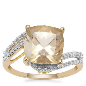 Serenite Ring with White Zircon in 9K Gold 3.62cts