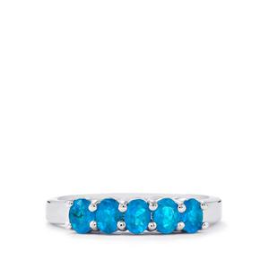 0.81ct Neon Apatite Sterling Silver Ring