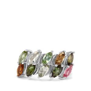 2.45ct Tutti-Frutti Tourmaline Sterling Silver Ring