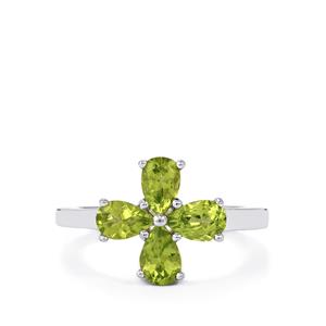 Changbai Peridot Ring in Sterling Silver 1.76cts