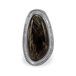 24ct Siberian Seraphinite Sterling Silver Aryonna Ring