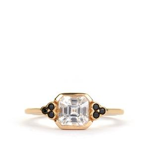 Asscher Cut Ratanakiri Zircon Ring in 9K Gold 1.69cts