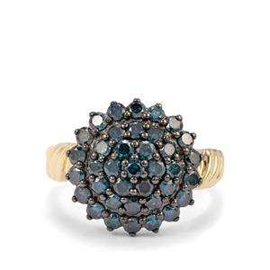 Blue Diamond Ring in 10K Gold 1.45ct