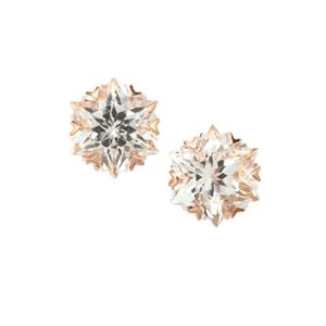Wobito Snowflake Cut Cullinan Topaz Earrings in 10K Rose Gold 5.59cts