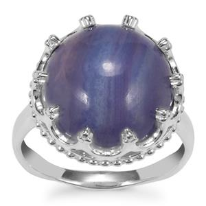 Blue Lace Agate Ring in Sterling Silver 9.49cts
