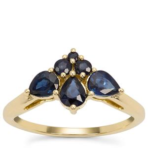 Nigerian Blue Sapphire Ring with Thai Sapphire in 9K Gold 1.19cts