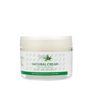 Natural Cream with Organic Aloe Vera Extract