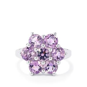 Rose du Maroc Amethyst Ring in Sterling Silver 3.23cts
