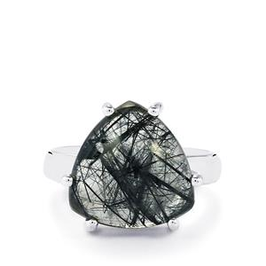 São Paulo Tourmalinated Quartz Ring in Sterling Silver 9cts