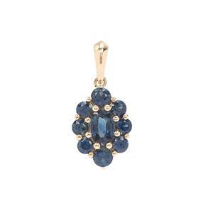 Australian Blue Sapphire Pendant in 9K Gold 1.56cts