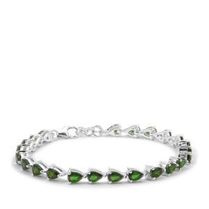 9.85ct Chrome Diopside Sterling Silver Bracelet
