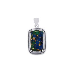 25ct Mojave Azurite Sterling Silver Aryonna Pendant