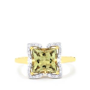 Csarite® Ring with Diamond in 18K Gold 2.90cts