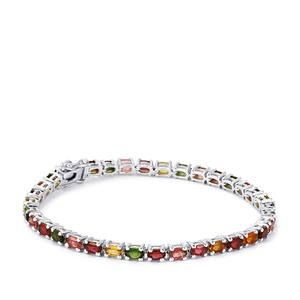Rainbow Tourmaline Bracelet in Sterling Silver 8.06cts