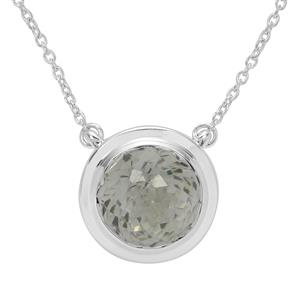 Eden Cut Prasiolite Necklace in Britannia Silver 7.95cts