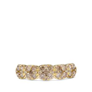 1.08ct Champagne Diamond 9K Gold Tomas Rae Ring