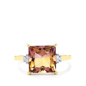 Anahi Ametrine Ring with Diamond in 9K Gold 3.41cts