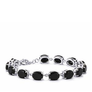 Black Spinel Bracelet in Sterling Silver 44.98cts