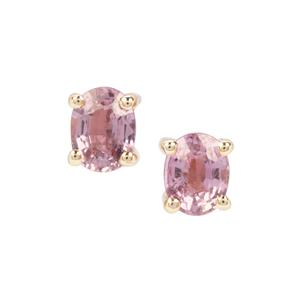 Sakaraha Pink Sapphire Earrings in 9K Gold 0.50ct