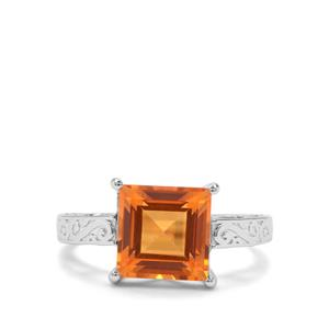 3.36ct Padparadscha Quartz Sterling Silver Ring