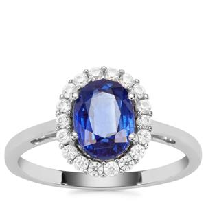 Nilamani Ring with White Zircon in 9k White Gold 2.12cts