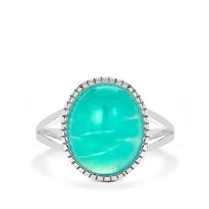 4ct Amazonite Sterling Silver Ring