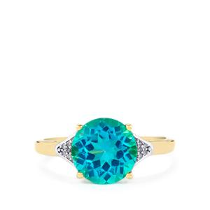 Batalha Topaz Ring with Diamond in 9K Gold 3.45cts
