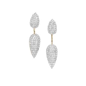 Argyle Diamond Earrings in 10K Gold 1.50ct
