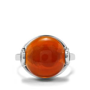 8.03ct American Fire Opal Sterling Silver Ring