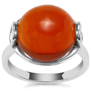 American Fire Opal Ring in Sterling Silver 8.03cts