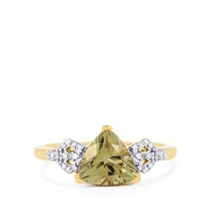 Csarite® Ring with Diamond in 18k Gold 2.05cts