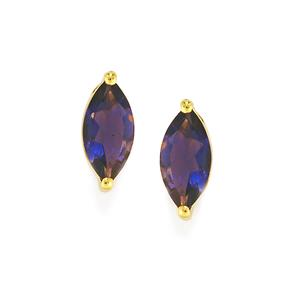1.69ct Bengal Iolite 9K Gold Earrings