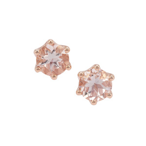 Alto Ligonha Morganite Earrings in 9K Rose Gold 2.23cts
