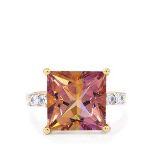 Anahi Ametrine Ring with White Sapphire in 9K Gold 6.19cts