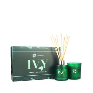 Ivy Fragranced Candle and Reed Diffuser Christmas Gift Set - Citrine Gemstones ATGW 80cts