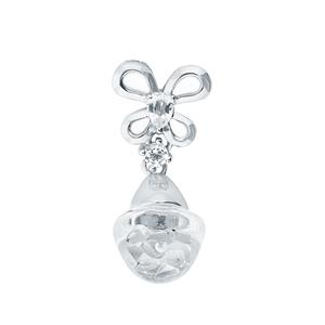Bulb Pendant with White Topaz in Sterling Silver 0.79cts