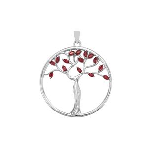 Malagasy Ruby Pendant in Sterling Silver 1.20cts (F)