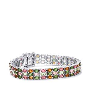 Rainbow Tourmaline Bracelet in Sterling Silver 24.48cts
