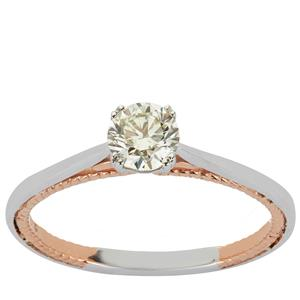 Diamond Ring in 18K Two Tone Gold 0.51ct