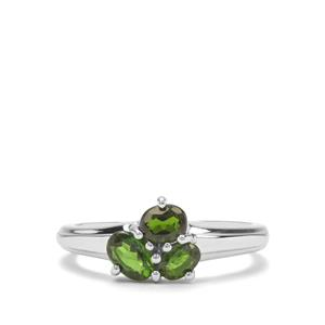 0.88ct Chrome Diopside Sterling Silver Ring